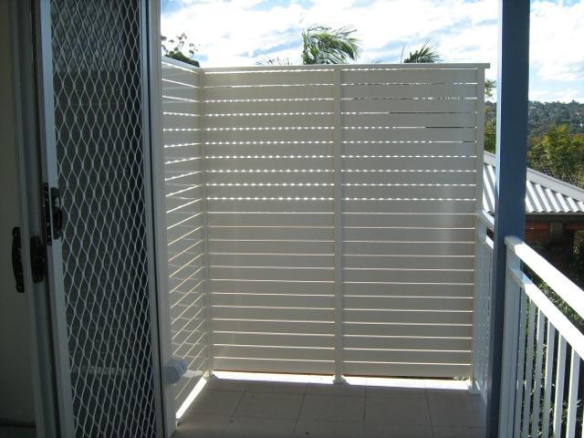 Privacy Screens North Side Railings